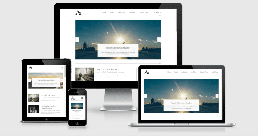 responsive blogger template, clean design template, simple design blogger template