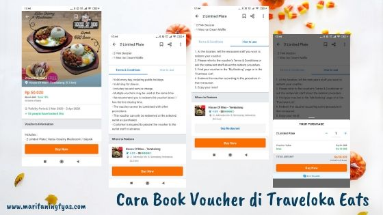 cara book voucher di Traveloka Eats