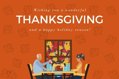 Thanksgiving & wonderful happy thanksgiving text on orange background.