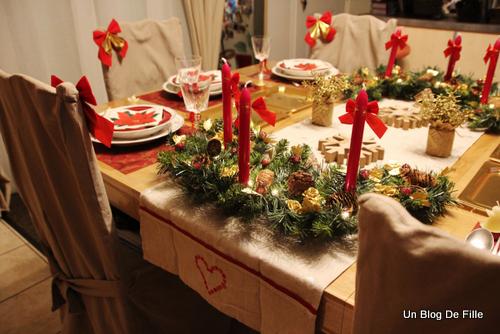 Un blog de fille d co table de no l rustique traditionnel for Decor de table de noel original