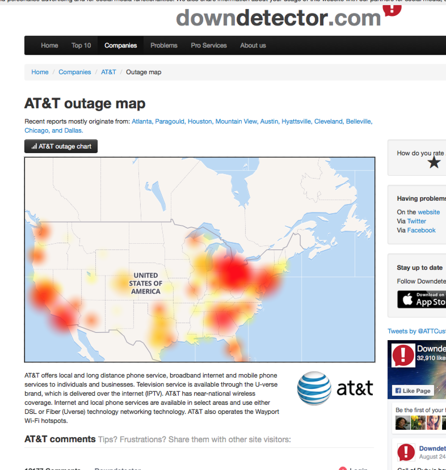 Time Warner Internet Outage Map lenox mall map