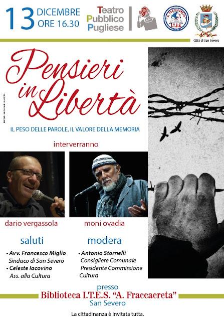 Moni Ovadia e Dario Vergassola all'ITES Fraccacreta di San Severo incontrano le giovani leve per la libertà, la memoria e il valore delle parole