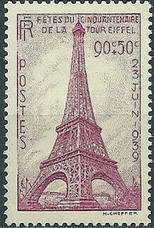 France-Post 1939 Eiffel Tower