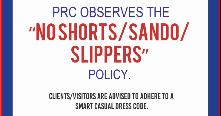 Prc Update For Clients Visitors Dress Code Ph Trending