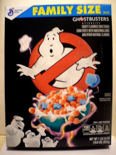 Front of Ghostbusters Afterlife Cereal Box
