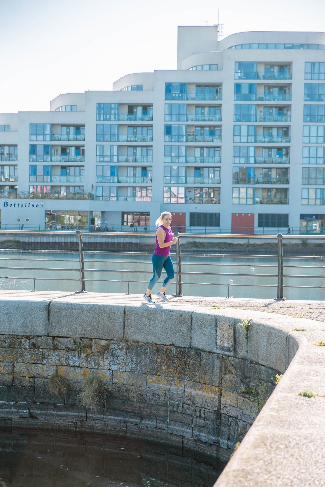 Fitness | The London Marathon Journey - Part 1 - Rachel Emily running in Portishead Marina