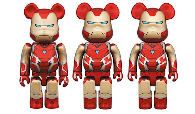 Avengers: Endgame Iron Man Mark 85 Armor Be@rbrick Vinyl Figures by Medicom Toy