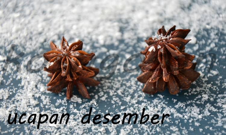 Kata ucapan Desember