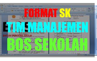 Contoh Format SK Tim Manajemen BOS Sekolah