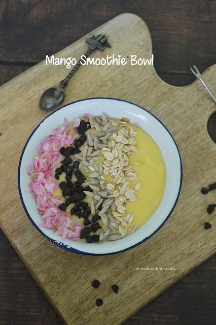 Mango Smoothie Bowl Recipe | Kids Friendly Smoothie bowl