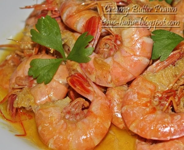 HaSue I Love My Life Resepi Creamy Butter Prawn