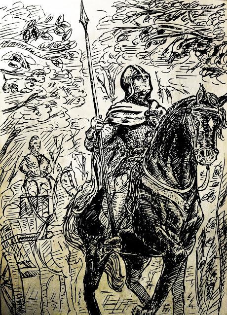Sir Edward guía a la caravana