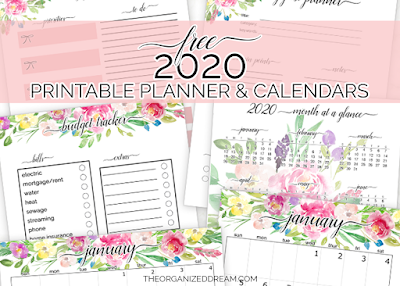 Free 2020 printable planner and calendar pages are available now to download! Get your copy today and start organizing and planning the new year!     #plannergirl #printableplanners #2020planners #printables #free