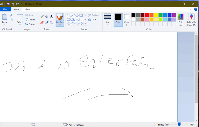 How to increase eraser size in paint