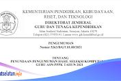 Penundaan Pengumuman Hasil Seleksi Kompetensi 1 Guru ASN PPPK Tahun 2021
