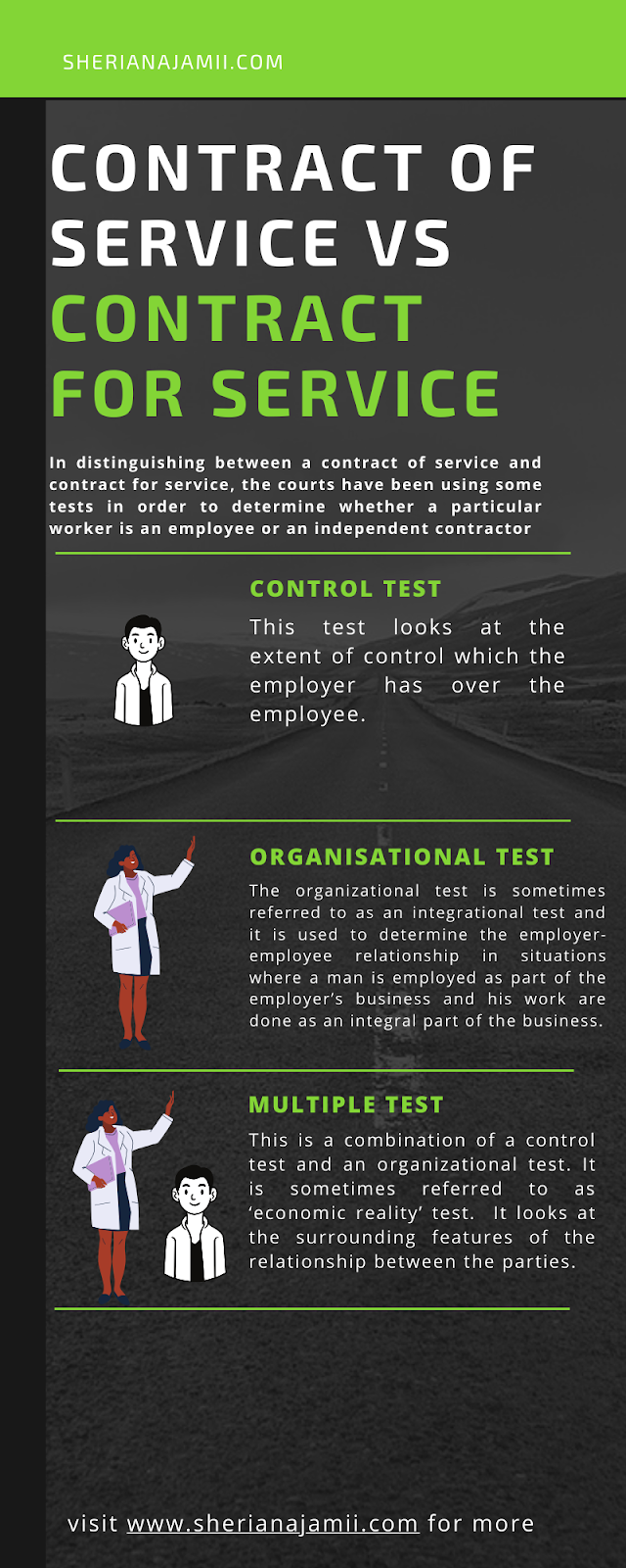 different between Contract of service and contract for service
