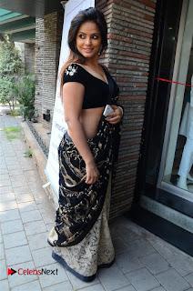 Actress Neetu Chandra Stills in Black Saree at Designer Sandhya Singh's Store Launch  0041.jpg