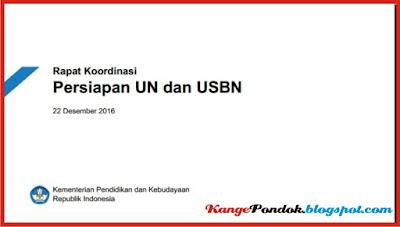 Inilah Bahan Rapat Koordinasi Persiapan UN dan USBN 2016/2017