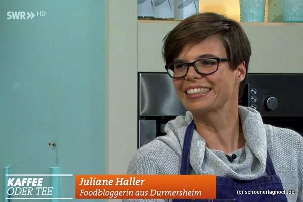 """Juliane Haller zu Gast bei """"Kaffee oder Tee"""" im SWR"""