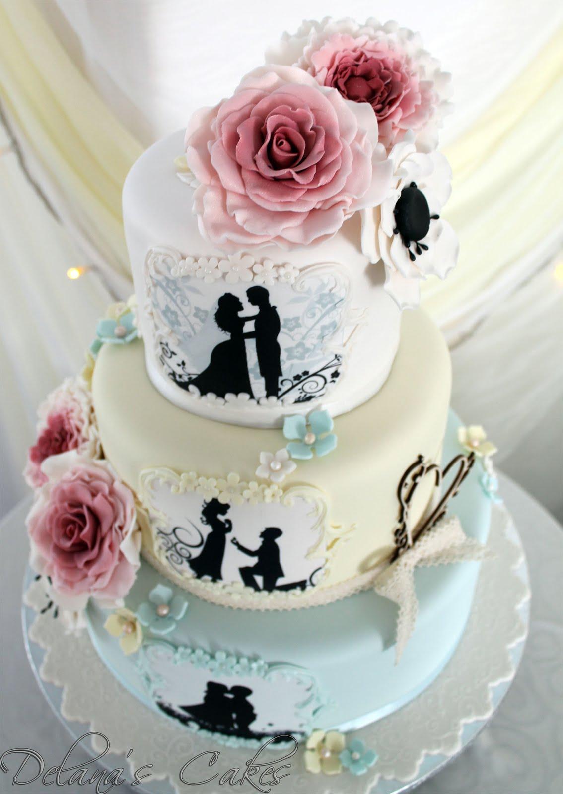 Delana S Cakes Romantic Love Story Wedding Cake