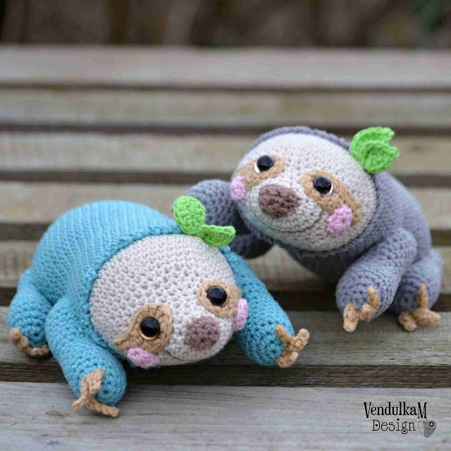 Crochet sloth by VendulkaM