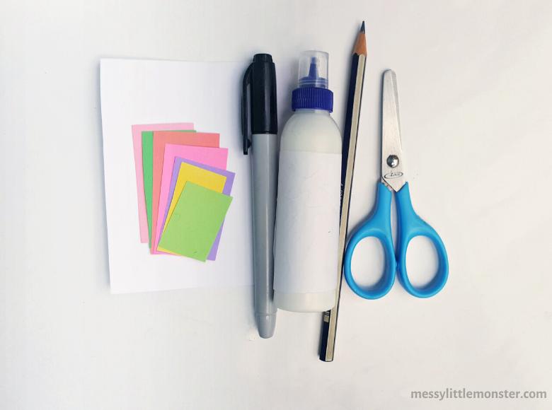 DIY notebook unicorn craft supplies