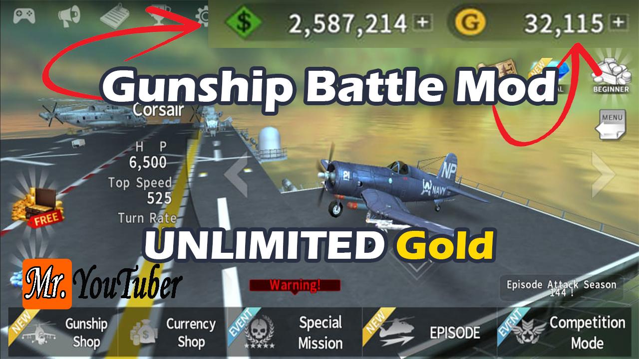 تحميل لعبة Gunship Battle مهكرة 2020