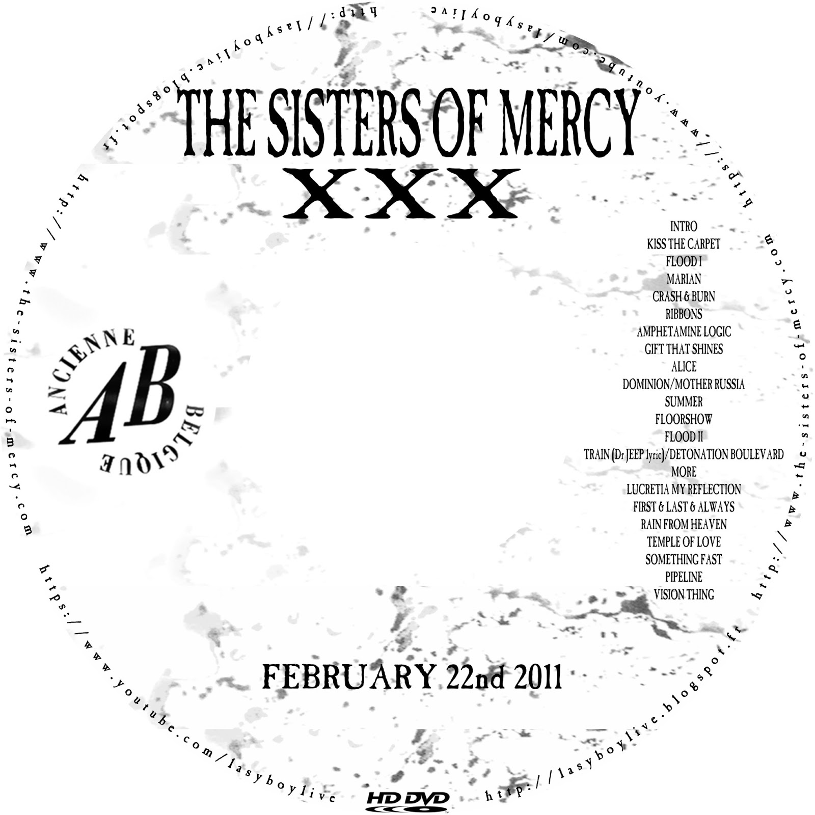lasyboylive: The Sisters of Mercy @ Ancienne Belgique, 22