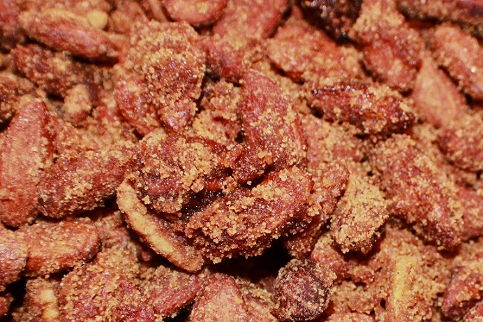 these are almond coated in cinnamon and sugar
