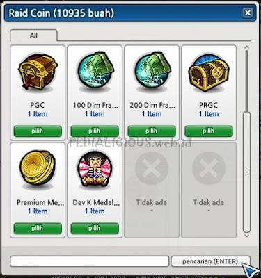 Tukar Raid Coin dengan Hadiah-Hadiah Berikut Lost Saga
