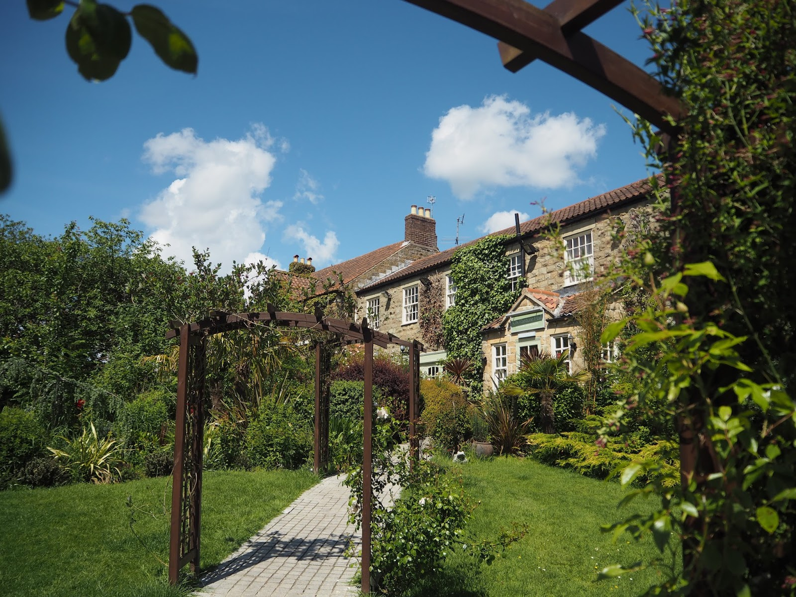 Grounds of Ox Pasture Hall Country Hotel, Scarborough, Yorkshire, romantic hotel near beach in Scarborough