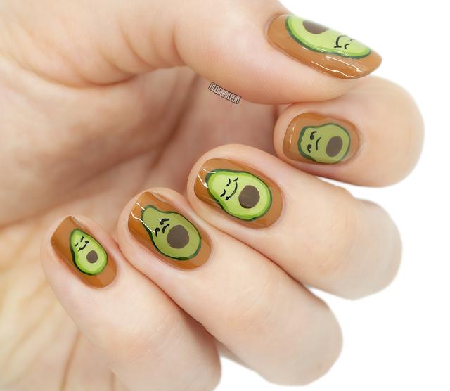 #inktober #inktober2019 #nailart #avocado