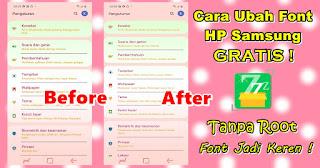 Cara Ganti Font Di HP Samsung Android 10 Gratis