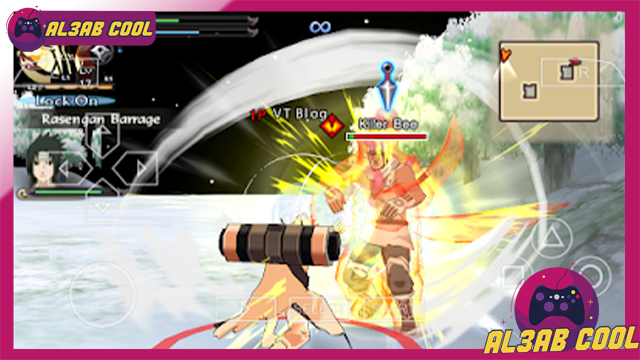 تحميل لعبة القتال Naruto Shippuden Ultimate Ninja Storm 4 psp بصيغة iso مضغوطه بحجم صغير