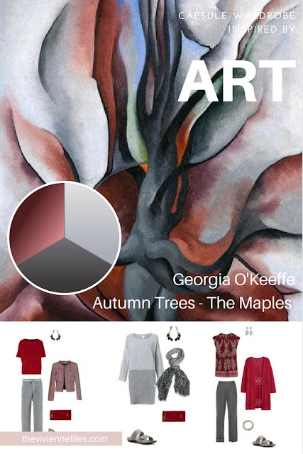 How to Build a Travel Capsule Wardrobe by Starting with Art: Autumn Trees - The Maples by Georgia O'Keeffe
