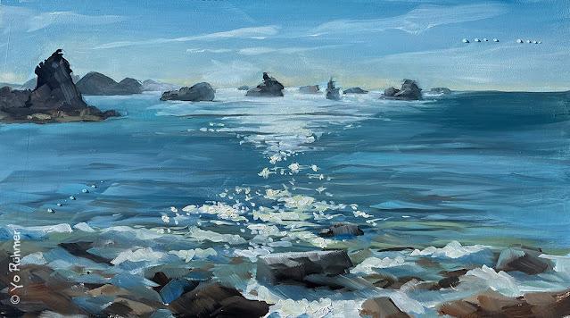 Bretagne Seestück Ölbild Pleinairmalerei