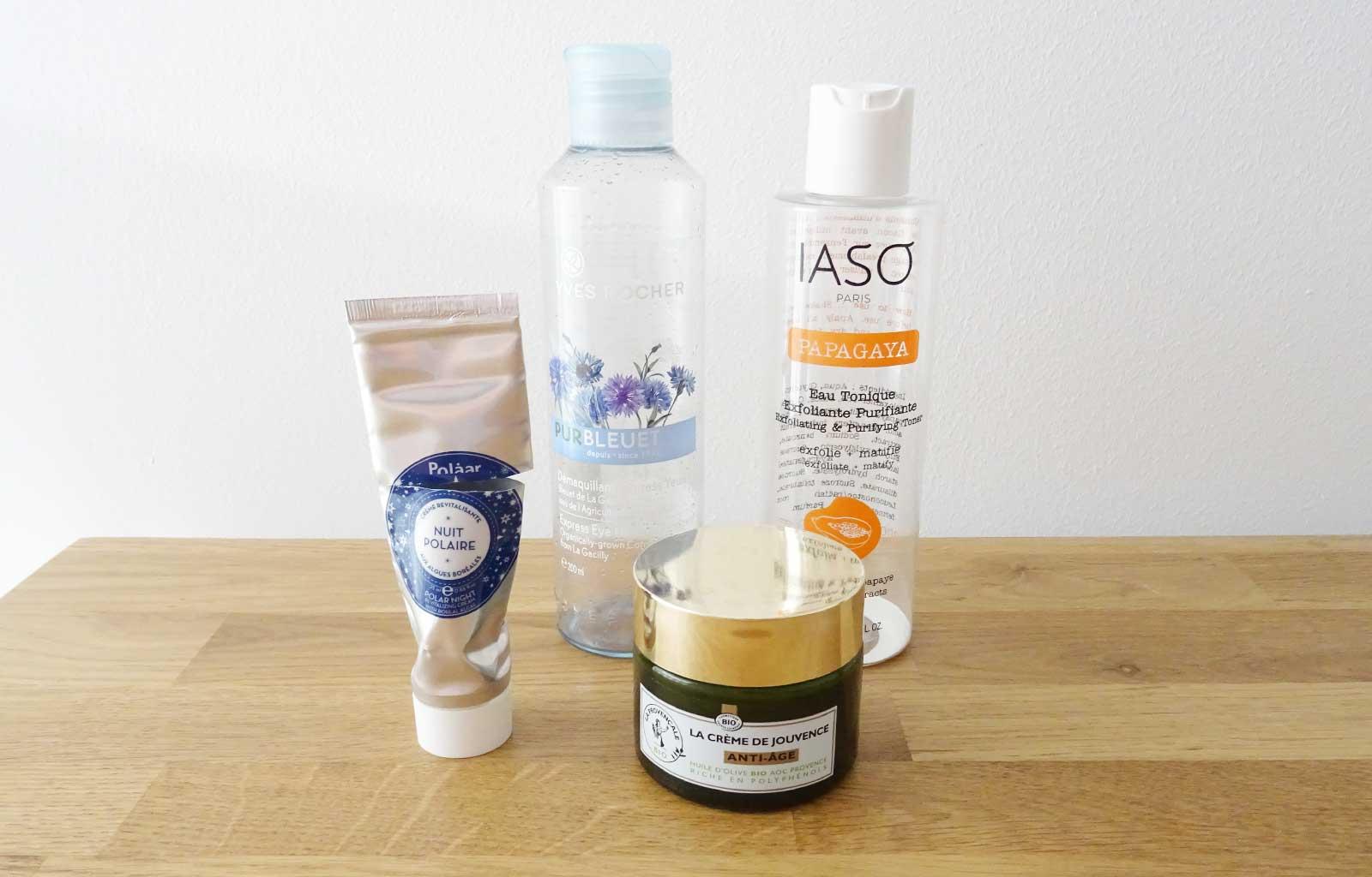 produits terminés soins visage