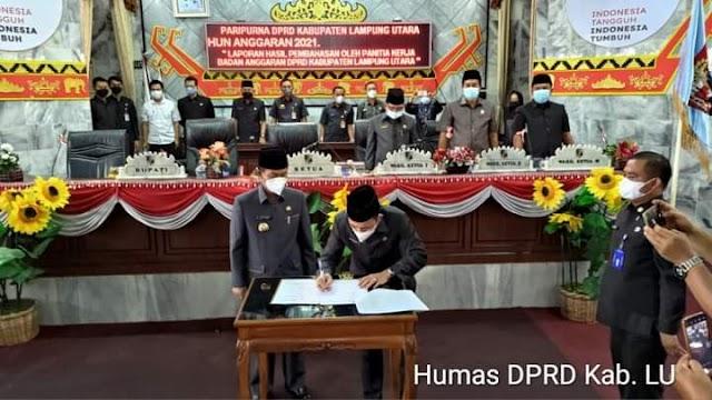 Sidang Paripurna DPRD Lampura Mensahkan KUA-PPAS Perubahan Tahun Anggaran 2021