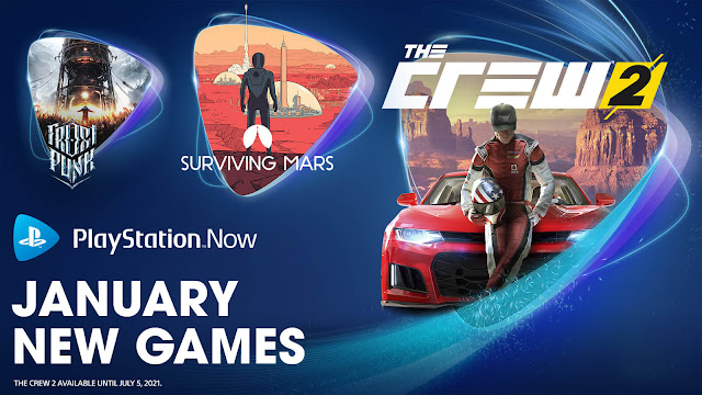 playstation now frostpunk console edition surviving mars the crew 2 ps4 lineup january 2021 sony