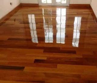 lantai kayu merbau terpasang