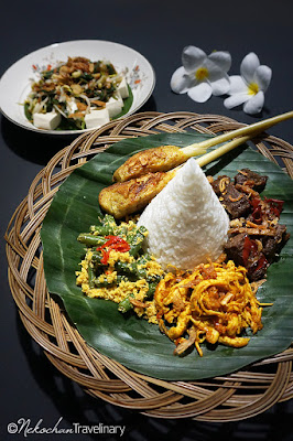 home made balinese set menu from black garlic