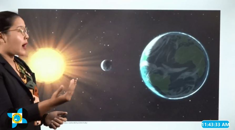 PAGASA Weather Specialist Ghela Lequiron explains annular solar eclipse.