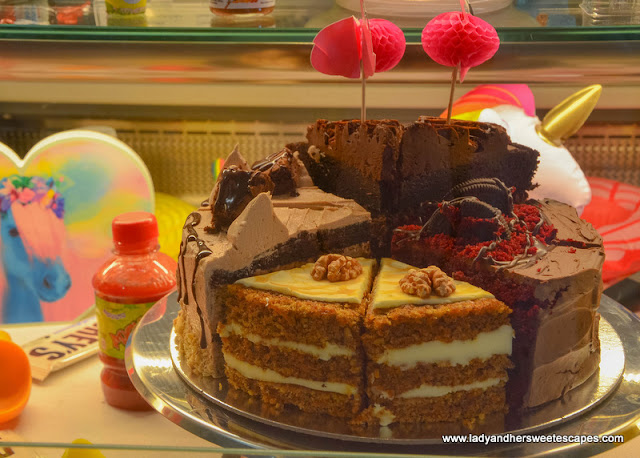cakes in Ellas Creamery at Riverland Dubai