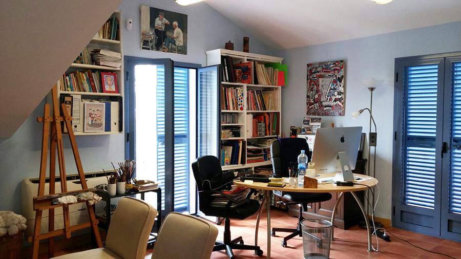 Estudio Honorio Aguilar - Casa de campo con estudio de pintura