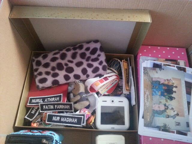 Sentimental stuff dalam kotak