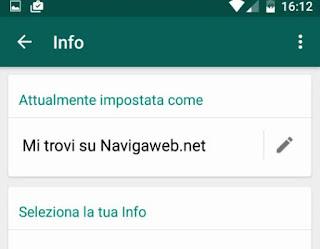 stato info whatsapp