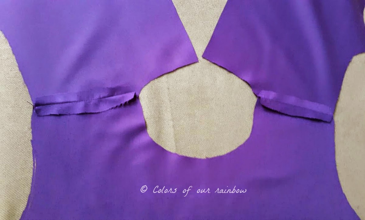 DIY Purple dress for child @colorsofourrainbow.blogspot.ae