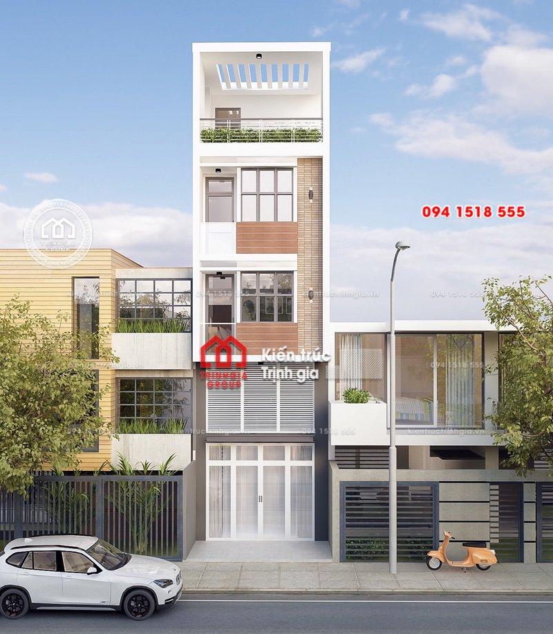 Bản vẽ mẫu thiết kế nhà phố mặt tiền 4m kết hợp kinh doanh