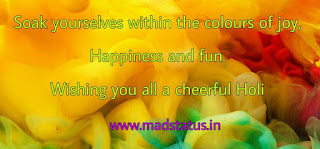 Colorful Holi Greetings for Facebook, Whatsapp