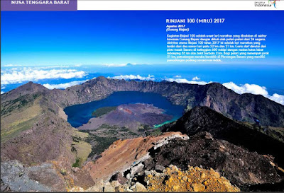 Event Rinjani 100 (MRU) 2017, bulan Agustus 2017. Sumber : www,indonesia.travel.